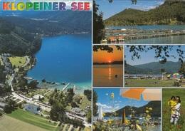 KLOPEINER SEE (Kärnten) - Mehrbilderkarte Gel., 3 Fach Frankatur - Klopeinersee-Orte