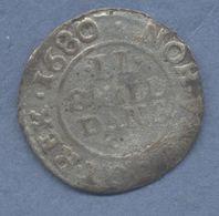 DANEMARK 2 SKILLING 1680  Christian V - Danemark