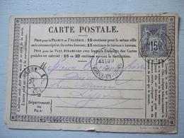 CARTE POSTALE DE 1877 / MACON  ( FONDERIE DE CUIVRE) A LYON / TIMBRE 15 C - Non Classés
