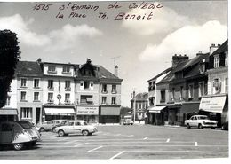 76  SAINT ROMAIN DE COLBOSC  LA PLACE TH BENOIT   EPREUVE 1950 / 60 PHOTO - Saint Romain De Colbosc