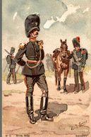 PEINTURE LOUIS GEENS 1835-1906  ARMEE BELGES GRENADIERS - Paintings