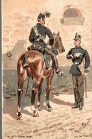 PEINTURE LOUIS GEENS 1835-1906  ARMEE BELGES LE TRAIN - Paintings