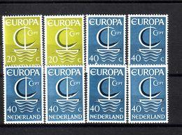 394g * NIEDERLANDE864/5 * DIVERSE EUROPA 1966 * POSTFRISCH **!! - 1949-1980 (Juliana)