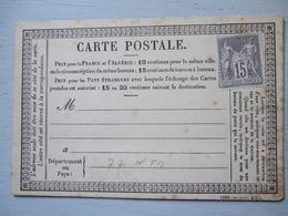 CARTE POSTALE DE 18.. / NON VOYAGEE / TIMBRE 15 C NEUF - Non Classés