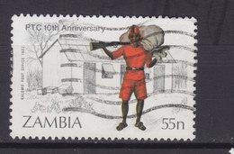 Zambia 1985 Mi. 343      55 N Postbote Mit Handkarren Postamt Von Livingstone - Zambia (1965-...)