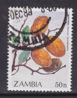 Zambia 1989 Mi. 499      55 N Früchte Fruits Parinari Curatellifolia - Zambia (1965-...)