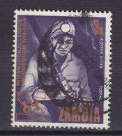 Zambia 1969 Mi. 55      3 N Internationale Arbeitsorganisation Bergmann Miner - Zambia (1965-...)