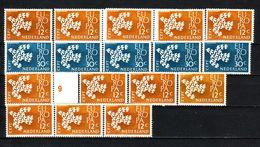 393g * NIEDERLANDE 765/8 * DIVERSE EUROPA 1961 * POSTFRISCH **!! - 1949-1980 (Juliana)