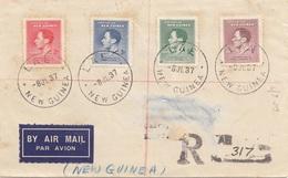 NEW GUINEA 1937 - 4 Fach Frankierung Auf R-Brief (Briefvorderseite) - Papua-Neuguinea