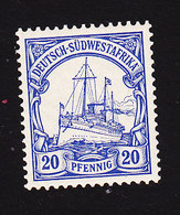 German South West Africa, Scott #16, Mint Hinged, Kaiser's Yacht, Issued 1900 - Colony: German South West Africa