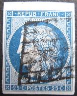 LOT FD/1706 - CERES N°4 - BEAU BORD DE FEUILLE - GRILLE NOIRE - Cote : 65,00 € - 1849-1850 Ceres