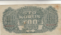 100 Korun 1944 Pieghe Ma Integra - Tchécoslovaquie