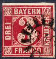 STAMP GERMAN STATES  BAVARIA,BAYERN 1862 3KR USED LOT#32 - Bayern