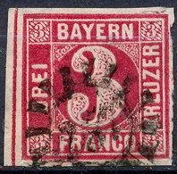 STAMP GERMAN STATES  BAVARIA,BAYERN 1862 3KR USED LOT#33 - Bayern