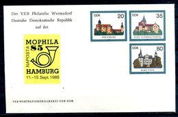 REPUBLIQUE DEMOCRATIQUE ALLEMANDE - Ganzsache Michel U2 Mit Privatzudruck (MOPHILA 85 HAMBURG) - [6] Oost-Duitsland