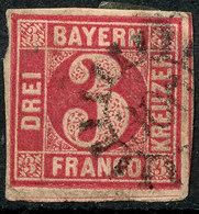 STAMP GERMAN STATES  BAVARIA,BAYERN 1862 3KR USED LOT#59 - Bayern