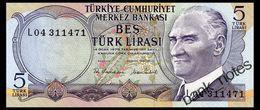 TURKEY 5 LIRA 1970 Pick 185 Unc - Turkije