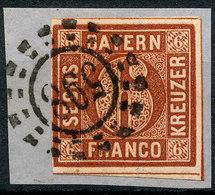 STAMP GERMAN STATES  BAVARIA,BAYERN 1849-58? 6KR USED LOT#66 - Bavière