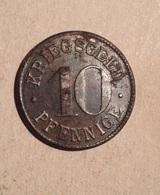 TOKEN JETON GETTONE GERMANIA GERMANY KRIEGSGELD 10 PFENNIGE STADTGEMEINDE HEIDELBERG - Monetari/ Di Necessità