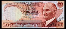 TURKEY 10 LIRA 1970 Pick 187b Unc - Turkey