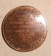 TOKEN JETON GETTONE PRESENTED ALBERTA SCHOOL CHILDREN - Monetary/Of Necessity