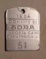 TOKEN JETON GETTONE MEDAGLIETTA IMPOSTA CANI COMUNE DI SORA 1954 - Monetari/ Di Necessità