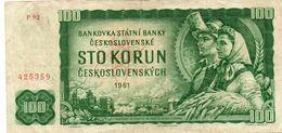 CZECHOSLOVACHIA  100 KORUN 1961  P-91 -CIRCOLATA - Cecoslovacchia