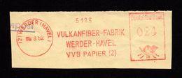 DDR AFS - WERDER (HAVEL), Vulkanfiber-Fabrik VVB Papier (Z) 1952 - Affrancature Meccaniche Rosse (EMA)