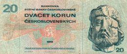 CZECHOSLOVACHIA 20 KORUN 1970  P-92 -CIRCOLATA - Cecoslovacchia