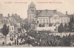 D58 - Cosne - Rue St Jacques Et Hôtel De Ville - Défilé De Pompiers   : Achat Immédiat - Cosne Cours Sur Loire