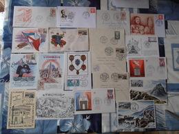 84Mé Enveloppes Cartes Timbres Cachets Oblitérations Premiers Jours Lot N°11 De 37 Militaire Guerres Liberation - Other
