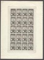 Précurseurs  Meeting D'aviation De Rouen 1922 - Feuille Complète ** 20 Ex. Epreuve En Noir Sans Valeur Indiquée - Aéreo