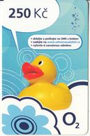 CZECH REPUBLIC - Duck, O2 Prepaid Card 250 Kc, Exp.date 31/12/14, Used - Czech Republic