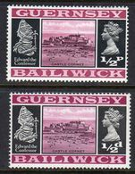 GUERNSEY - 1969 VIEWS DEFINITIVE 1/2d THICK & THIN PAPERS FINE MNH ** SG 13-13a - Guernsey