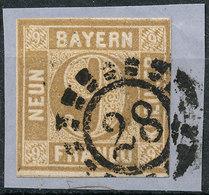 STAMP GERMAN STATES  BAVARIA,BAYERN 1862  9KR USED LOT#168 - Bavaria