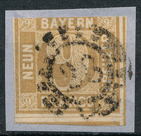 STAMP GERMAN STATES  BAVARIA,BAYERN 1862  9KR USED LOT#171 - Bavaria