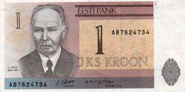 ESTONIA 1 KROON 1992 P-69  UNC   Seria AB - Estonia