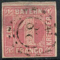 STAMP GERMAN STATES  BAVARIA,BAYERN 1850  1KR USED LOT#189 - Beieren