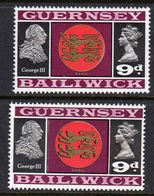 GUERNSEY - 1969 VIEWS DEFINITIVE 9d THICK & THIN PAPERS FINE MNH ** SG 21-21a - Guernsey