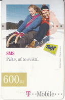 CZECH REPUBLIC - 2 Girls, SMS, T Telecom/Twist Prepaid Card 600 Kc, Exp.date 31/12/09, Used - Czech Republic