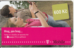 CZECH REPUBLIC - Couple On Phone, T Telecom Prepaid Card 600 Kc, Exp.date 06/01/16, Used - Czech Republic