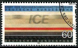 BRD - Mi 1530 - OO Gestempelt (D) - 60Pf    Start ICE-Verkehr - [7] Federal Republic