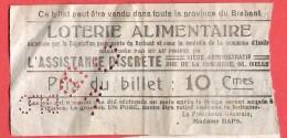 14-18 Loterie Alimentaire  L'assistance Discrète Rue De La Concorde 68 à IXELLES  Présidente Madame HAPS - Biglietti Della Lotteria
