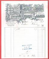 Jolie Ancienne  Facture Ill. Tapisserie Mercerie Broderie SUJARDIN LAMMENS Rue St Jean à Bruxelles 9 VI 1898 - Belgique