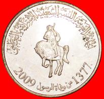 √ EQUESTRIAN* LIBYA ★ 100 DIRHAMS 1377-2009 MINT LUSTER! LOW START ★ NO RESERVE! - Libya