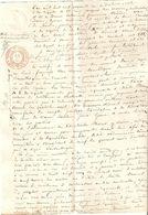 Brief Lettre Akte Brussel Bruxelles Notaire Notaris St Antoine Brecht Oostmalle Manuscrit Manuscript - Manuscripts