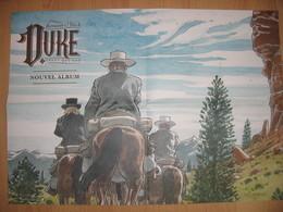 """Affiche Double Duke """"celui Qui Tue"""" HERMANN Yves H. Le Lombard 2018 - Affiches & Offsets"""