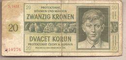Boemia & Moravia - Banconota Circolata Da 20 Corone - P-9a - 1944 - [12] Colonie & Banche Straniere