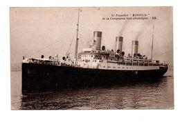 """BATEAU . PAQUEBOT . """" MASSILIA """" DE LA COMPAGNIE SUD ATLANTIQUE - Réf. N°9384 - - Steamers"""