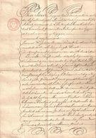 Brief Lettre Akte Notaire Notaris Lille 1834 Manuscrit Manuscript Schepenen Oostmalle Hypotheek Geel - Manuscripts